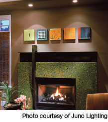 Fireplace lighting
