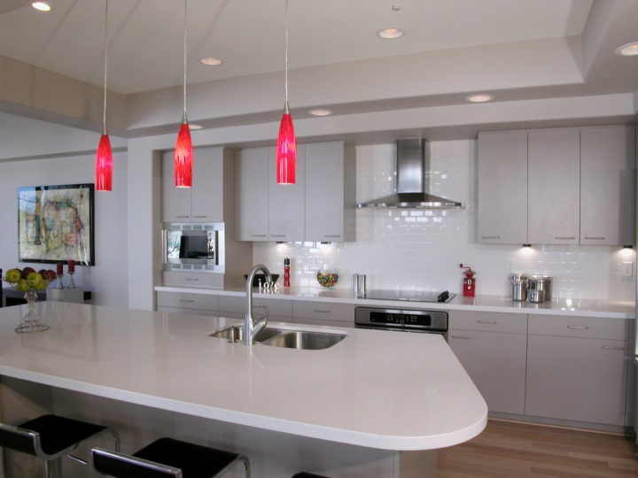 View larger image modern kitchen with red pendant lighting lightstyleoforlando