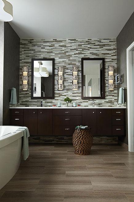 Bathroom Lights On Side Of Mirror Image Of Bathroom And Closet
