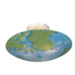 kidshine world map three-light semi-flush mount fixture