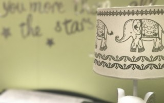 nursery with elephant lamp