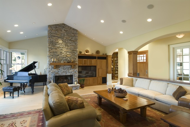 View Larger Image Living Room With Recessed Lighting